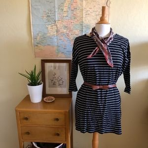 H&M 3/4 Sleeve Striped Shirt Dress